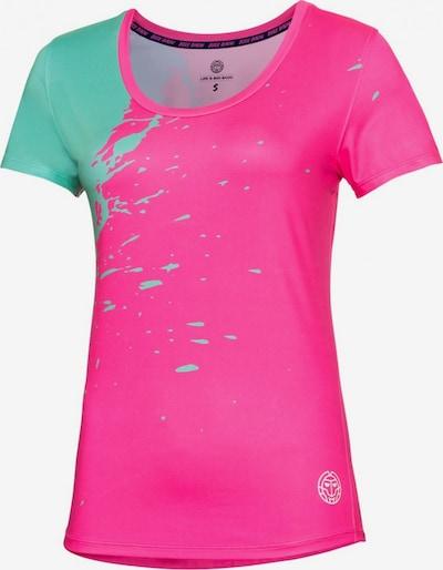 BIDI BADU T-Shirt Amari Tech mit Rundhalsausschnitt in grün / pink, Produktansicht