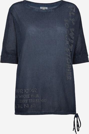 Soccx Pullover mit Mesh-Struktur und Artwork in dunkelblau, Produktansicht