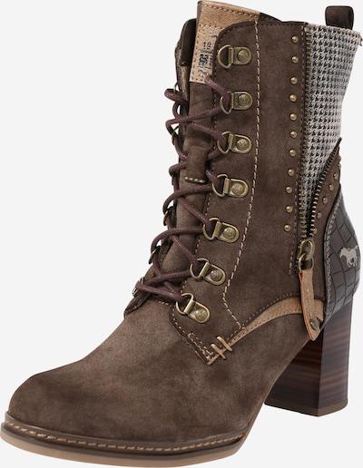 Suvarstomieji kulkšnis dengiantys batai iš MUSTANG , spalva - tamsiai ruda, Prekių apžvalga