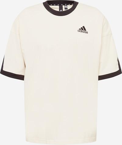 ADIDAS PERFORMANCE T-Shirt fonctionnel en crème / noir, Vue avec produit