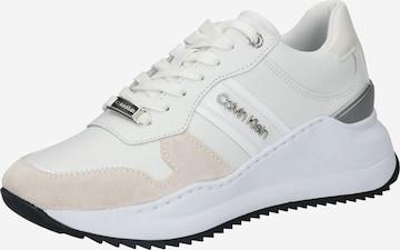 Calvin Klein Matalavartiset tennarit 'Ryle' värissä valkoinen