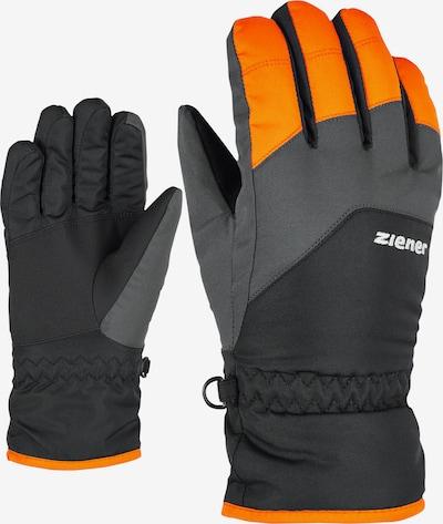 ZIENER Skihandschuhe 'LANDO JUNIOR' in orange, Produktansicht