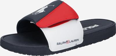 POLO RALPH LAUREN Strand-/badschoen 'Leary III' in de kleur Nachtblauw / Rood / Wit, Productweergave