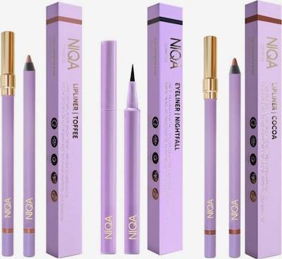 NIQA COSMETICS Make-Up Set EYE & LIP TRIO in braun / schwarz, Produktansicht
