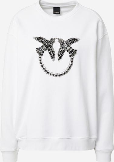 PINKO Sweat-shirt 'NELLY' en noir / blanc, Vue avec produit