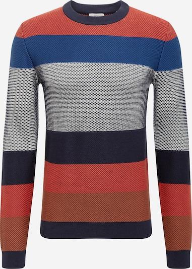 EDC BY ESPRIT Sweter w kolorze niebieski / granatowy / rdzawobrązowy / czerwony / białym, Podgląd produktu