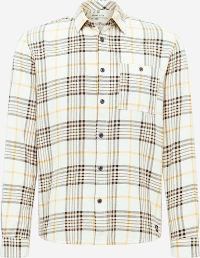TOM TAILOR DENIM Skjorta i gul / svart / vit: Sedd framifrån