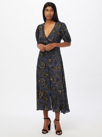 sessun Kleid 'WAYAN' in kitt / navy / gold / schwarz, Modelansicht
