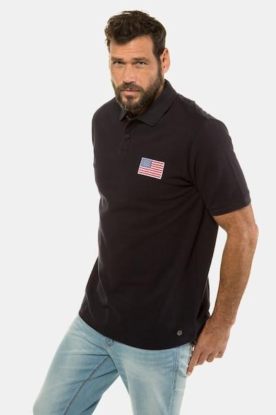 JP1880 JP 1880 Herren große Größen Poloshirt 720213 in schwarz, Produktansicht