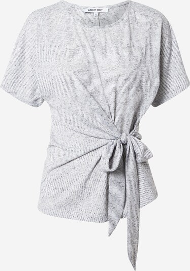 ABOUT YOU Shirt 'Faline' in grau / weiß, Produktansicht