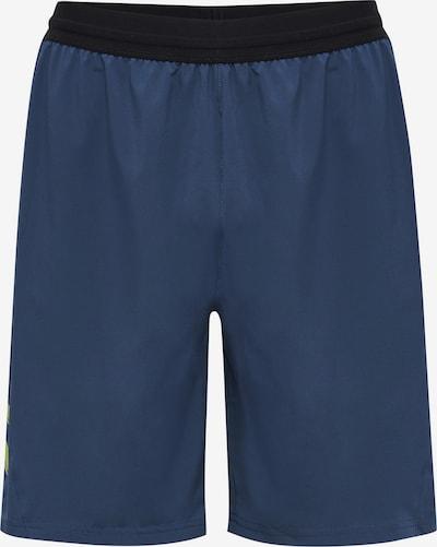 Hummel Sportbroek in de kleur Navy / Limoen / Zwart, Productweergave
