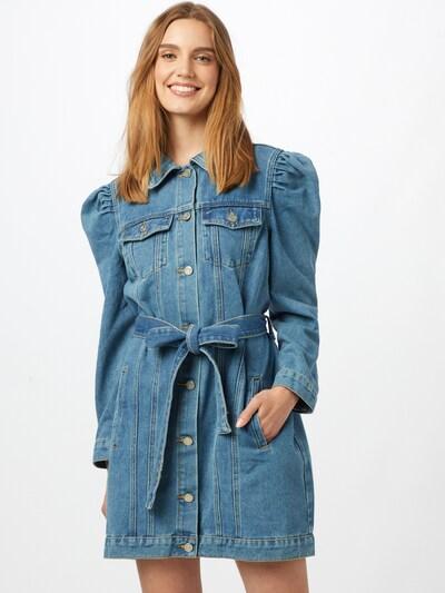 Missguided Košulja haljina u plavi traper, Prikaz modela
