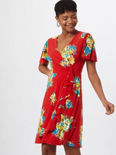 Lauren Ralph Lauren Kleid in hellblau / gelb / rot, Modelansicht