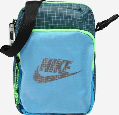 Nike Sportswear Schoudertas 'Heritage 2.0' in de kleur Pastelblauw / Lichtblauw / Neongroen / Wit, Productweergave