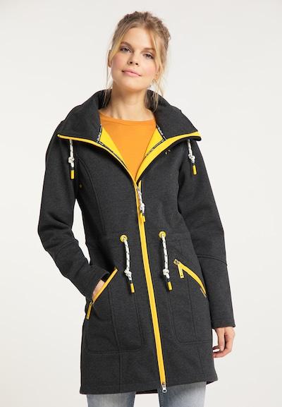Schmuddelwedda Toiminnallinen pitkä takki värissä keltainen / tummanharmaa, Mallinäkymä