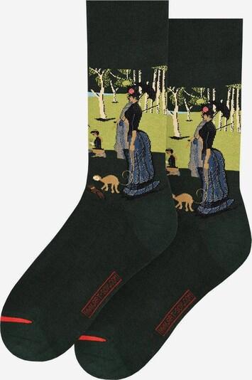 MuseARTa Socken in blau / grasgrün, Produktansicht