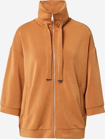 COMMA Zip-Up Hoodie in Brown