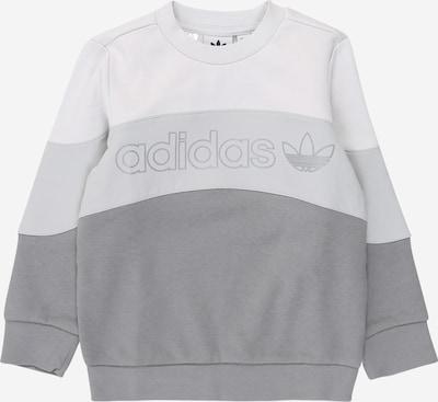 ADIDAS ORIGINALS Sweat en gris / gris clair / blanc, Vue avec produit