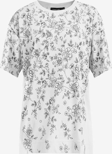 Finn Flare Kurzarmshirt in grau / weiß, Produktansicht
