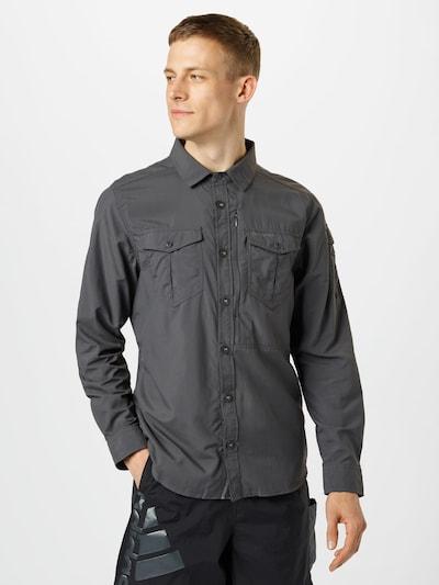 CRAGHOPPERS Functioneel overhemd in de kleur Zwart: Vooraanzicht