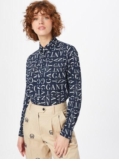 GANT Bluse in dunkelblau / weiß, Modelansicht
