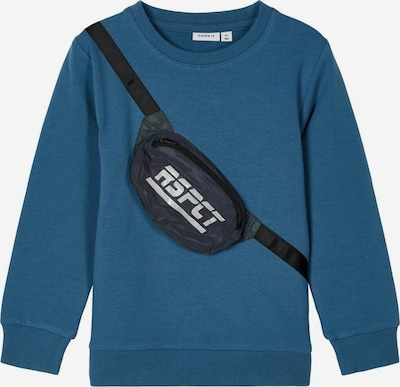 NAME IT Sweatshirt 'TOMA' in blau / grau / schwarz, Produktansicht