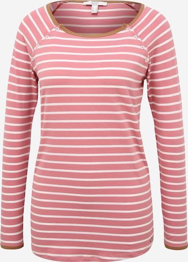 Tricou Esprit Maternity pe maro caramel / roz pal / alb, Vizualizare produs