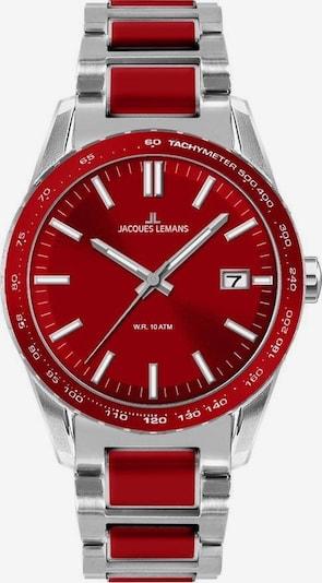 Jacques Lemans Uhr 'Liverpool' in karminrot / silber, Produktansicht