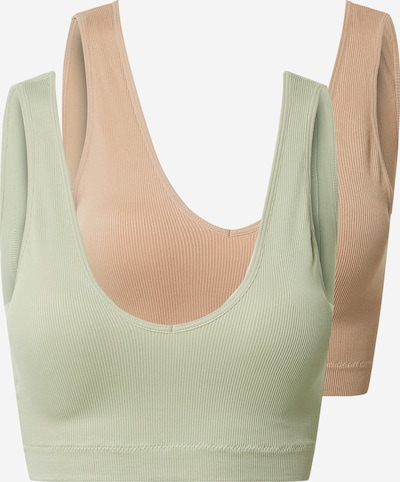 PIECES Bra 'Symmi' in Beige / Pastel green, Item view