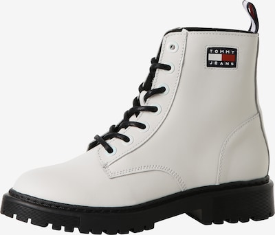 Tommy Jeans Lace-Up Ankle Boots in Navy / Red / White / Off white, Item view