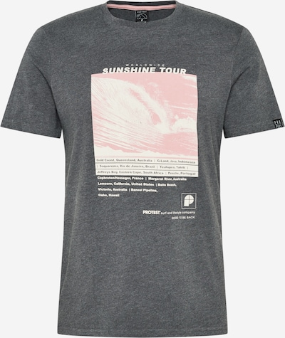PROTEST T-Shirt fonctionnel 'BEAT' en gris foncé / rose pastel / blanc, Vue avec produit