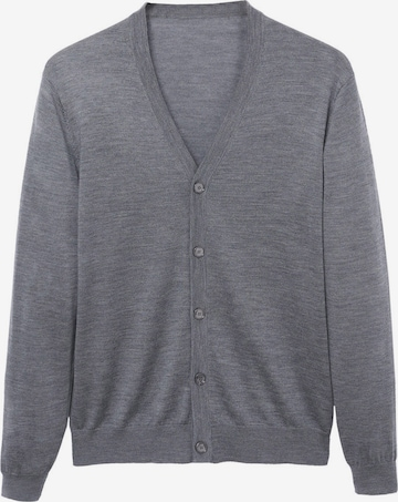 MANGO MAN Плетена жилетка 'Willyc' в сиво