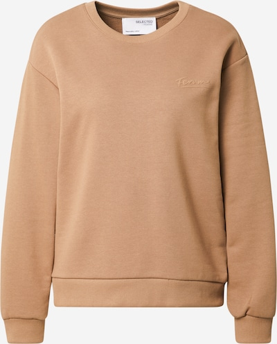 SELECTED FEMME Sweatshirt in hellbraun, Produktansicht