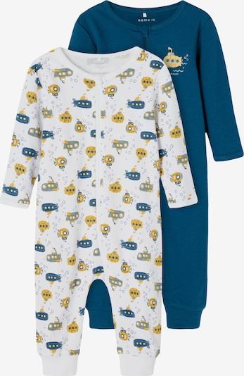 NAME IT Schlafanzug in navy / pastellblau / goldgelb / weiß, Produktansicht