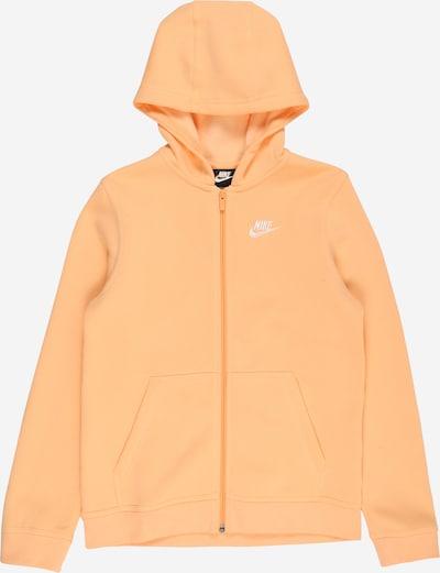 Giacca di felpa Nike Sportswear di colore arancione chiaro / bianco, Visualizzazione prodotti