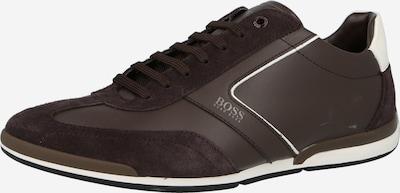BOSS Casual Спортни обувки с връзки 'Saturn' в шоколад / бяло, Преглед на продукта
