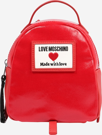 Love Moschino Backpack in light red / black / white, Item view