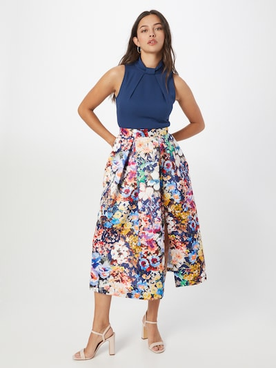 Closet London Cocktail Dress in Navy / Mixed colors, View model