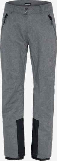 CHIEMSEE Outdoorbyxa i gråmelerad / svart, Produktvy