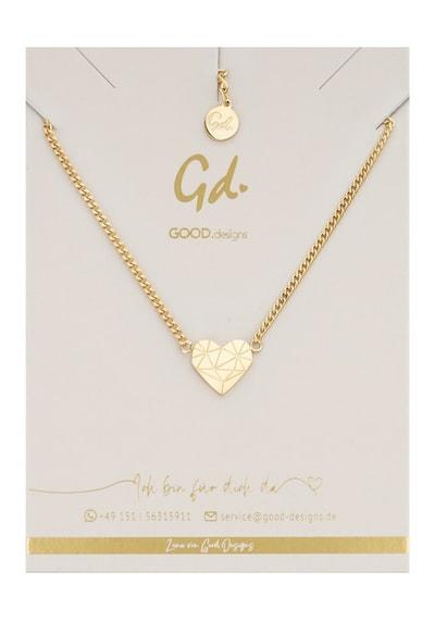 GOOD.designs Halskette mit Anhänger in gold, Produktansicht