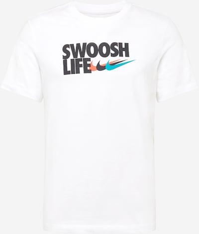 Nike Sportswear Shirt in blau / koralle / schwarz / weiß, Produktansicht