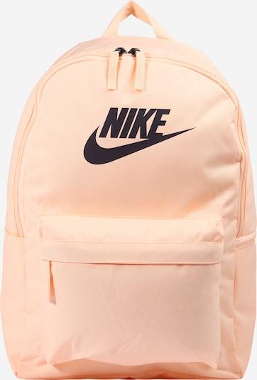 Nike Sportswear Sportrugzak ' Heritage   2.0 ' in de kleur Abrikoos / Zwart, Productweergave
