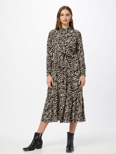 Hailys Blousejurk 'Lea' in de kleur Lichtbeige / Zwart, Modelweergave