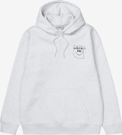 Carhartt WIP Sweatshirt 'Hooded Smiley' in schwarz / weiß, Produktansicht