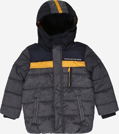 s.Oliver Junior Jacke in dunkelblau / gelb / graumeliert, Produktansicht
