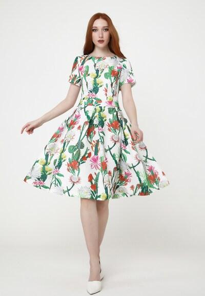 Madam-T Sommerkleid 'SDONA' in grün / weiß, Modelansicht