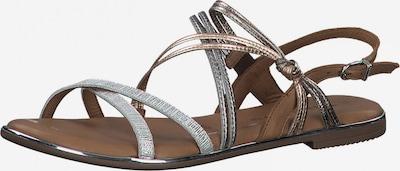 TAMARIS Sandale in karamell / kupfer / silber, Produktansicht