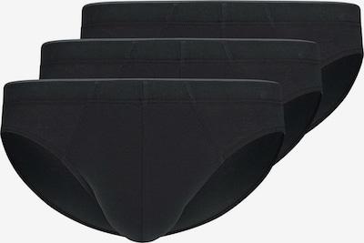 HUBER Slip ' 3er-Pack Cotton ' in de kleur Zwart, Productweergave