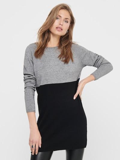 ONLY Úpletové šaty - šedá / černá, Model/ka