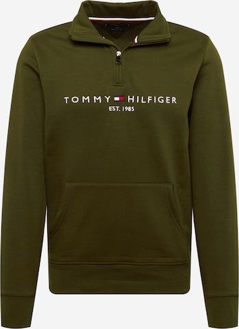 TOMMY HILFIGER Sweatshirt in Grün